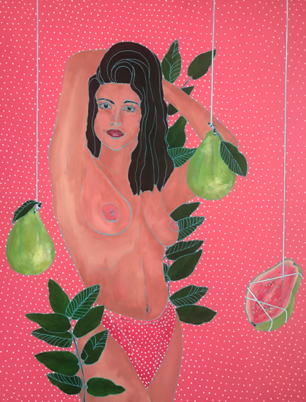 Oh My Guava! 2019 Acrylic on wood